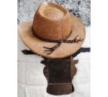 100 % Chapeau western en peau de vache A 10503