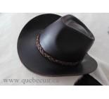 100% Chapeau Western en cuir brun. 100502