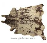 Peau de vache Acid wash, avec or metallique.