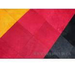 Cowhide German flag rug.100587