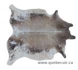100803 cowhide rug tapis peau de vache METALLIC SILVER   Collection Canada Premium