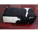 30' Pouf en peau de vache blanc et noir. 100805