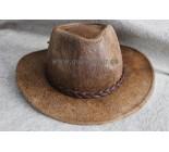 Chapeau western en peau de vache brun. 100917