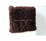 16' Coussin en peau de mouton brun. 100937