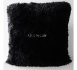 20' Grand coussin en peau de mouton de la Patagonie noir. 101307