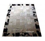 Cowhide Patchwork Rug Black And White. Code 14501