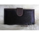 Dark Brown Cowhide Wallet . Code 15036.