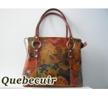 Leather Handbag Printed With Flowers. Code 20022059.