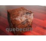16' Pouf Cube en peau de vache brun brindle. 200481