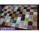400047 cowhide rug patchwork