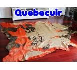 450018 cowhide rug tapis peau de vache  GOLDEN ORANGE XXXL
