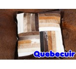 590011  cowhide  peau de vache  COUSSIN PILLOW
