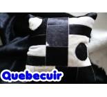 590013  cowhide  peau de vache  COUSSIN PILLOW