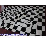 700402 Cowhide Rug patchwork