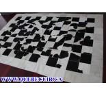 700441 cowhide rug patchwork