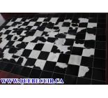 700442 cowhide rug patchwork