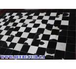 700443 cowhide rug patchwork
