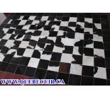 700444 cowhide rug patchwork