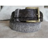 100% Gray Cowhide Belt. Code 73001.