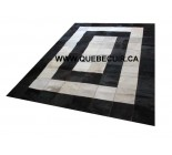 100.100% Cowhide Patchwork Rug Black And White. Code 73003.
