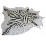 770 1007 cowhide rug tapis peau de vache GOLDEN METALLIC ZEBRA XXXL Collection Canada Premium
