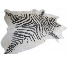 770 1034 cowhide rug tapis peau de vache GSILVER METALLIC ZEBRA XXL Collection Canada Premium