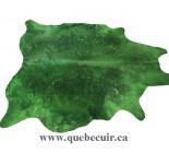 770001  cowhide rug tapis peau de vache GREEN