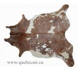 770004  cowhide rug tapis peau de vache SILVER  METALLIC ARGENT