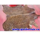 770005  cowhide rug tapis peau de vache LEOPARD