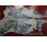 770013  cowhide rug tapis peau de vache  METALLIC