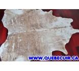 770030 cowhide rug tapis peau de vache SILVER METALLIC