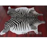 770053  cowhide rug tapis peau de vache ZEBRA