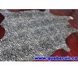 770055  cowhide rug tapis peau de vache BABY ZEBRA