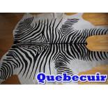 770059  cowhide rug tapis peau de vache ZEBRA