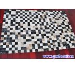 900086 cowhide rug tapis peau de vache Patch