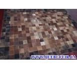 900616 cowhide rug tapis peau de vache PATCHWORK