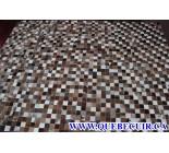 900617 cowhide rug tapis peau de vache PATCHWORK
