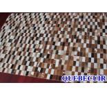 900621 cowhide rug tapis peau de vache PATCHWORK