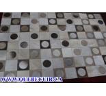 900629 cowhide rug tapis peau de vache PATCHWORK
