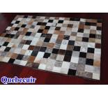 900631 cowhide rug tapis peau de vache PATCHWORK