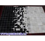 900647  cowhide rug tapis peau de vache PATCHWORK