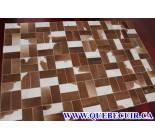 900649  cowhide rug tapis peau de vache PATCHWORK
