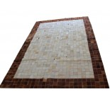 900654  cowhide rug tapis peau de vache PATCHWORK