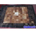 900656  cowhide rug tapis peau de vache PATCHWORK