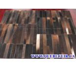 900709  cowhide rug tapis peau de vache PATCHWORK