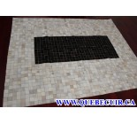 900712  cowhide rug tapis peau de vache PATCHWORK
