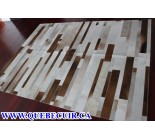 900773 cowhide rug tapis peau de vache PATCHWORK