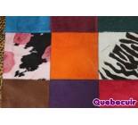 970003 G  cowhide rug tapis peau de vache PATCHWORK MG
