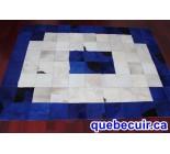 970006 G  cowhide rug tapis peau de vache PATCHWORK MG