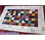 970014 G  cowhide rug tapis peau de vache PATCHWORK MG